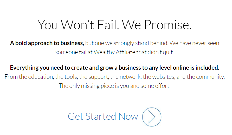 Wealthy Affiliate We Will Not Fail